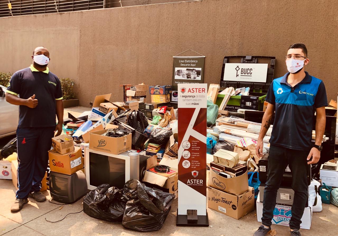 Quase 10 toneladas de lixo eletrônico foram recolhidas